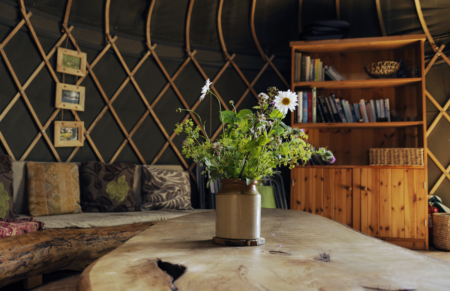 Glamping in Dorset - Luxury yurt interior