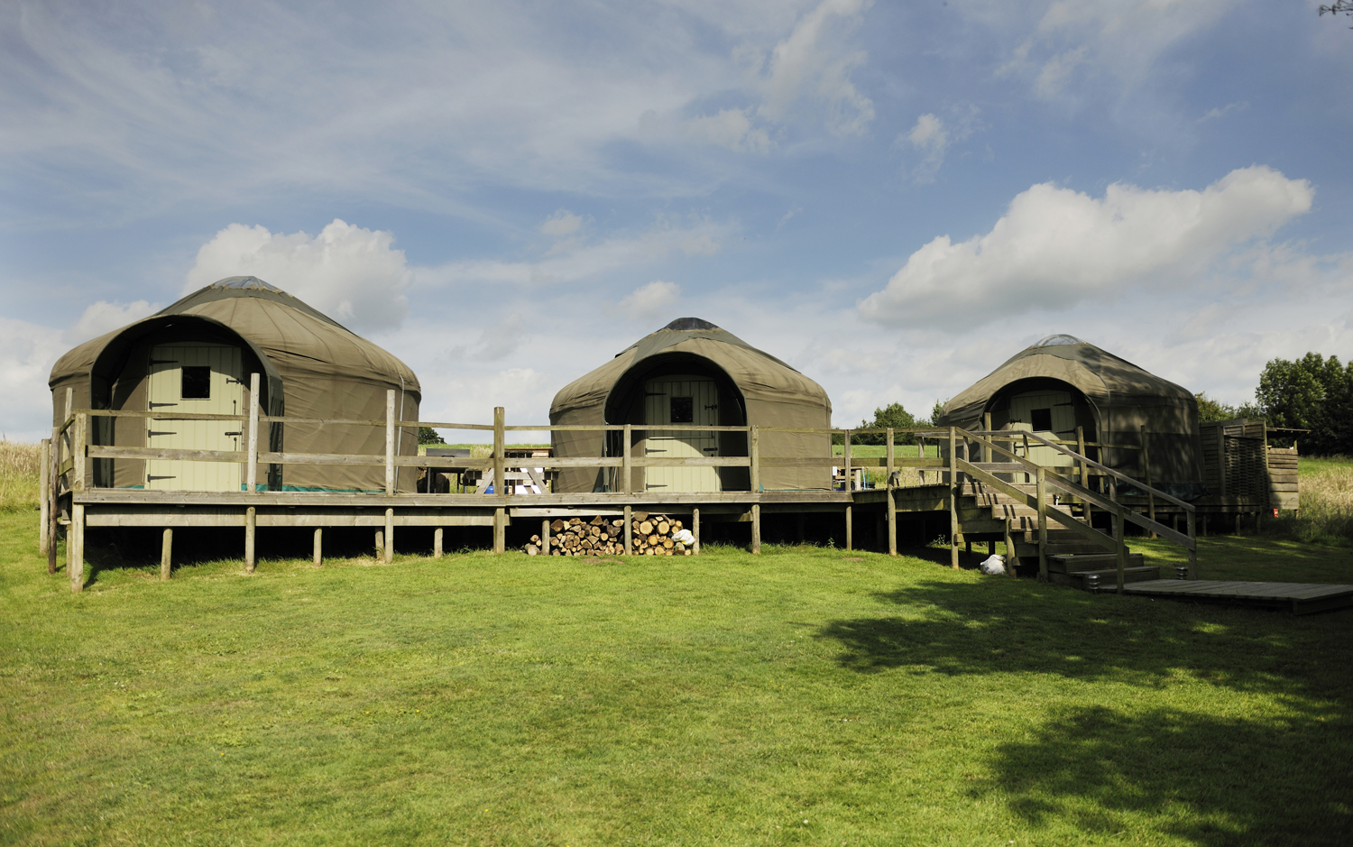 Withy Bed Yurts for Dorset country glamping holidays on the Stock Gaylard estate